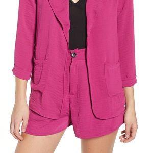 NWOT Nordstrom Code x Mode Purple fuschia Shorts